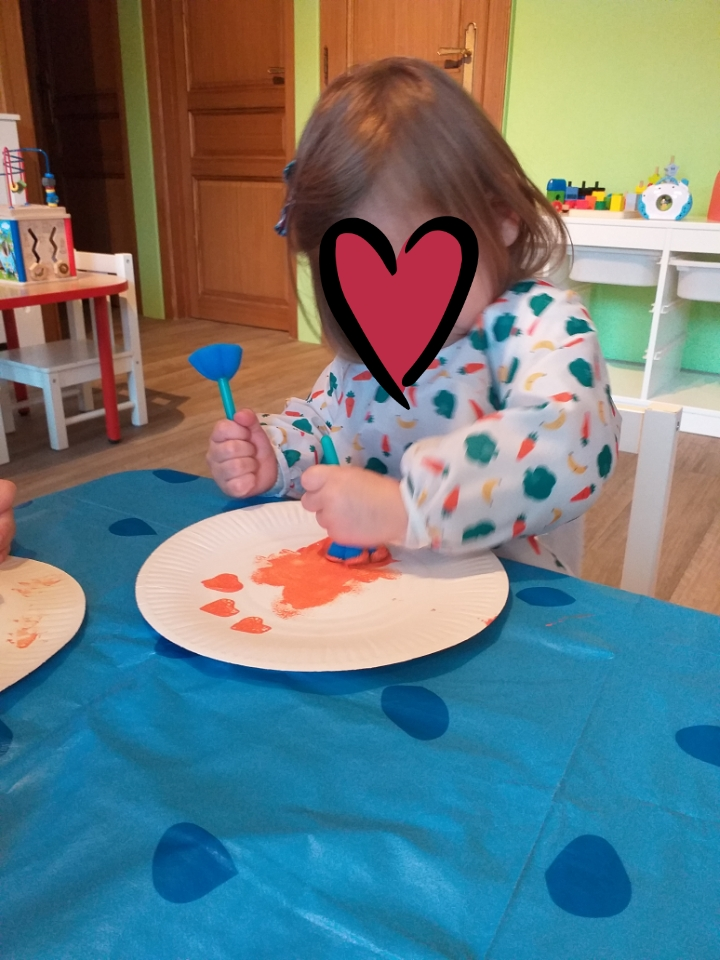 Peinture aux tampons