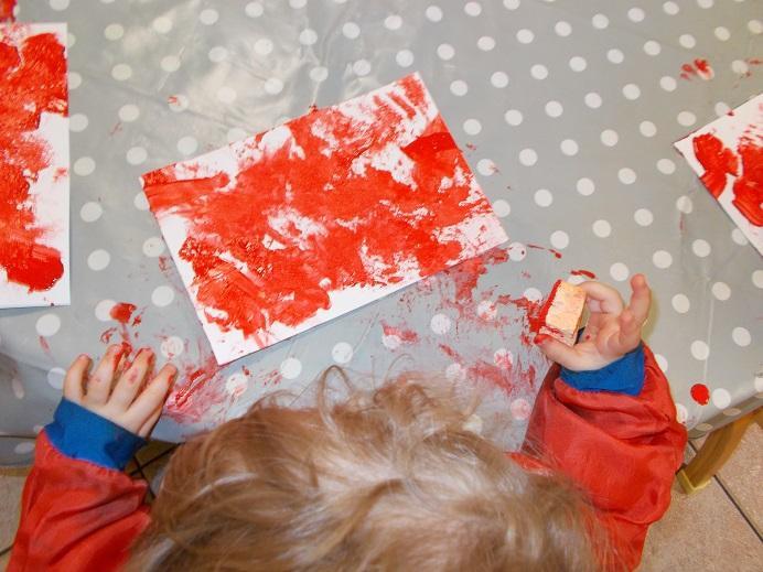 Peinture à l'éponge
