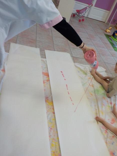 Peinture avec les pieds