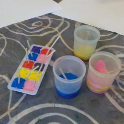 Peinture au glaçon