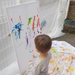 Lancé de peinture...