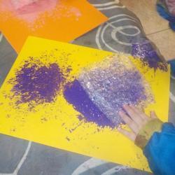 Peinture papier bulles
