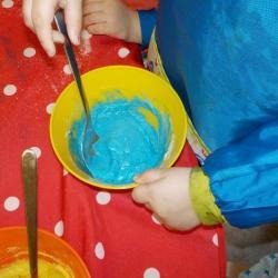 Préparation de la peinture gonflante