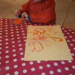 Peinture coton tige