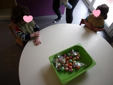 La récolte des enfants présents à la crèche